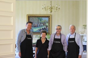 Ambassador Florence Jeanblanc-Risler with Cuisine panel members (from left) John Saker, John Belsham and John Comerford - JPEG