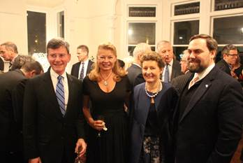 Hon. Christopher Finlayson (Attorney General and NZ Government Representative), Mrs.Gail Brown (US Ambassadors' spouse), Florence Jeanblanc-Risler (French Ambassador) and Demian Smith (Acting Deputy Chief of Mission - US Embassy Wellington). - JPEG