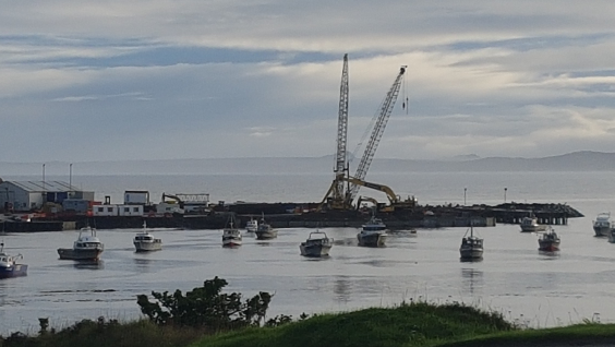 HEB Construction is building the Chatham Islands' new wharf - PNG