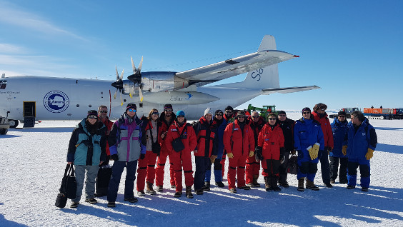 Arrival of a scientific delegation at the Mario Zucchelli research station - JPEG